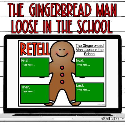First grade Christmas digital read aloud for google slides TM