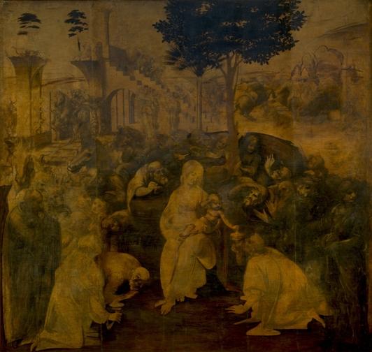 The Adoration of the Magi (1481), Uffizi