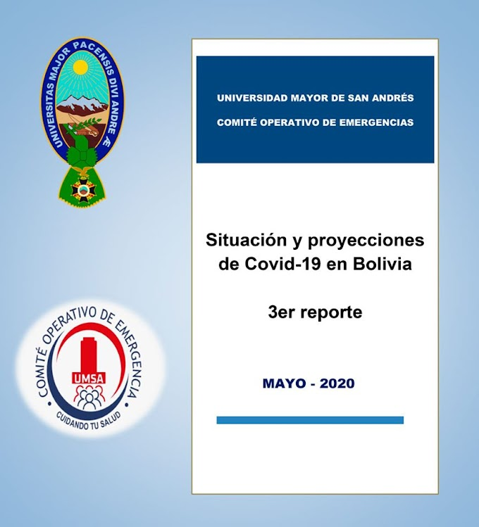 UMSA Tercer Reporte: Situación y proyecciones de Covid-19 en Bolivia (PDF 2020)