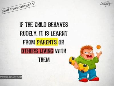 如果你的孩子总是行为粗鲁没有礼貌,那其实是从家长或者身边的人那里学来的。