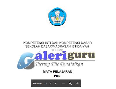 KI Dan KD Kelas 3 Kurikulum 2013 Tahun 2018 Mapel PPKN