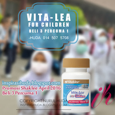 promosi, vita lea, for children, vita lea for children, shaklee, produk