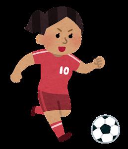 サッカー選手のイラスト(女性・東南アジア人)