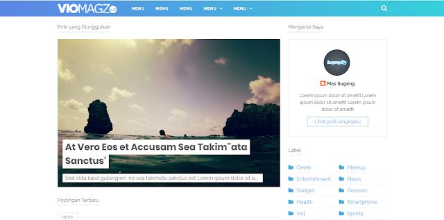 template blogspot premium viomagz versi terbaru v3.1 original gratis