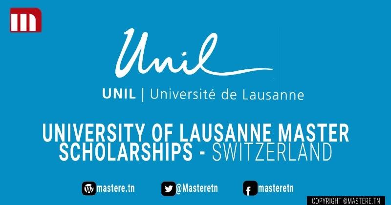 Programme de bourses de l'Université de Lausanne (UNIL) 2022-2023.