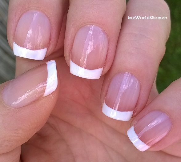 Life World Women: French Manicure For Short Nails Without Tape