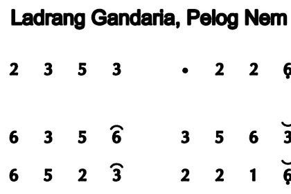 Gandaria Pelog 6