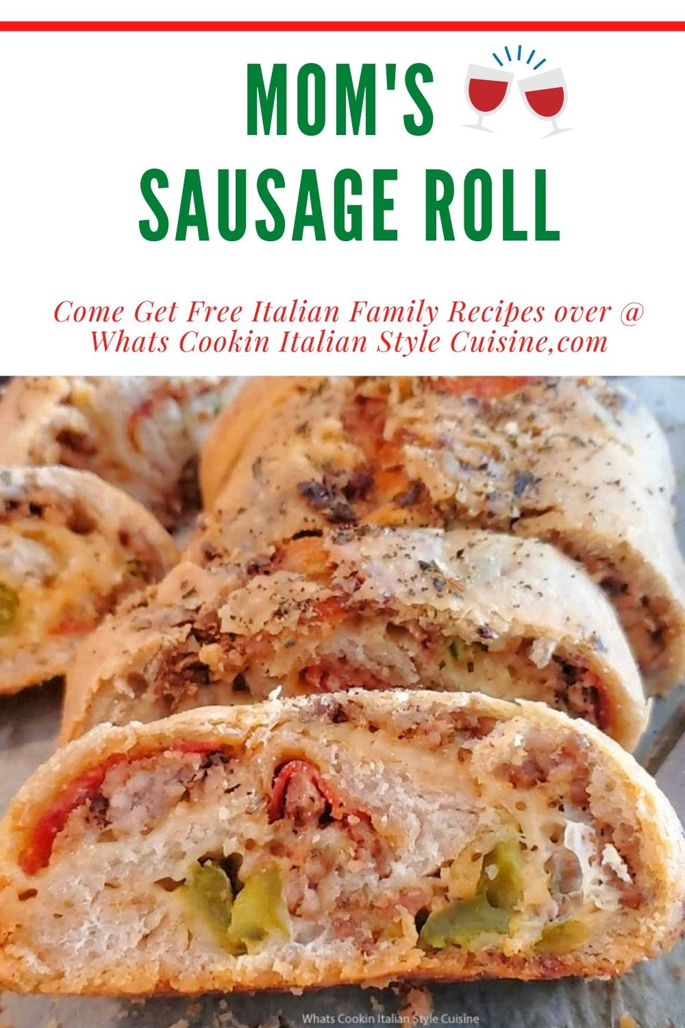 this is a pin on how to make Italian sausage roll