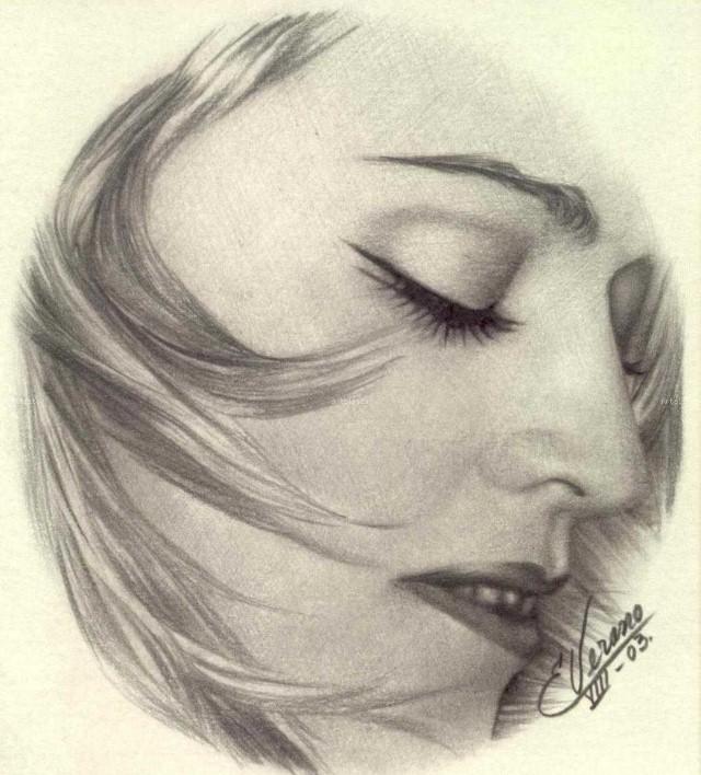 Рисунки карандашом. Elia Verano 14