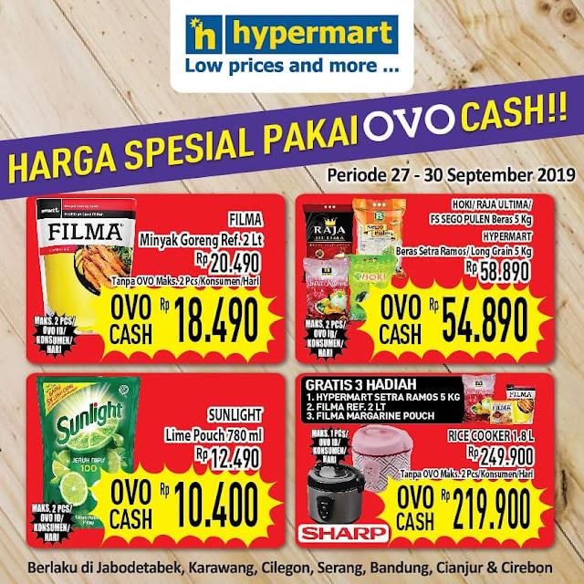 #Hypermart - #Promo Harga Spesial Belanja Pakai OVO Cash (s.d 30 Sept 2019)