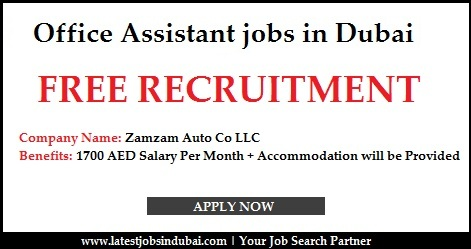 Office Assistant jobs in Dubai 2016