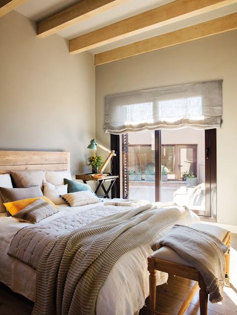dormitor in culori de toamna