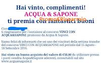 Logo Vince gratis uno dei 1.000 buoni spesa Acqua&Sapone da 50 euro