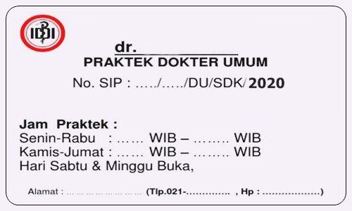 Cara Membuat dan Perpanjang Surat Izin Praktek Dokter SIP Terbaru - www.herusetianto.com