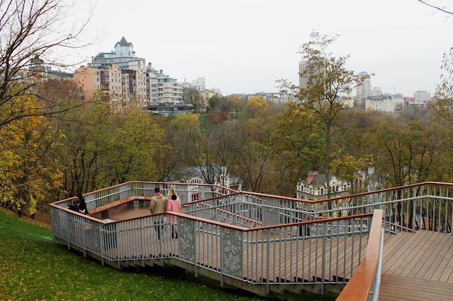Лестница на Пейзажной аллее после реконструкции
