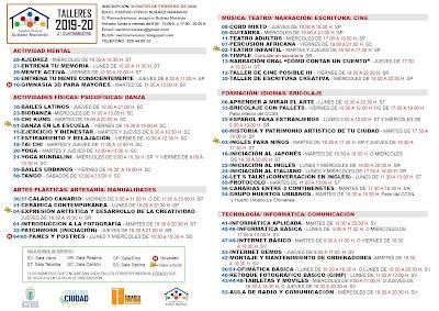 Talleres 2019-20 segundo cuatrimestre