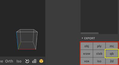 QB Export Option in MagicaVoxel