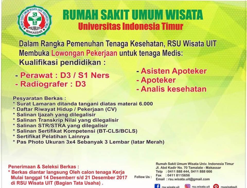 Lowongan Kerja Rumah Sakit Umum Wisata Univ Indonesia