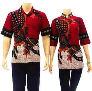 Contoh kemeja batik untuk pasangan kombinasi terbaru