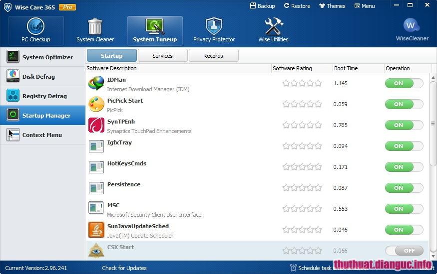 Download Wise Care 365 Pro 5.3.1 Build 528 Full Crack, phần mềm cải thiện hiệu suất máy tính, phần mềm tăng tốc máy tính, Wise Care 365 Pro, Wise Care 365 Pro free download, Wise Care 365 Pro full key