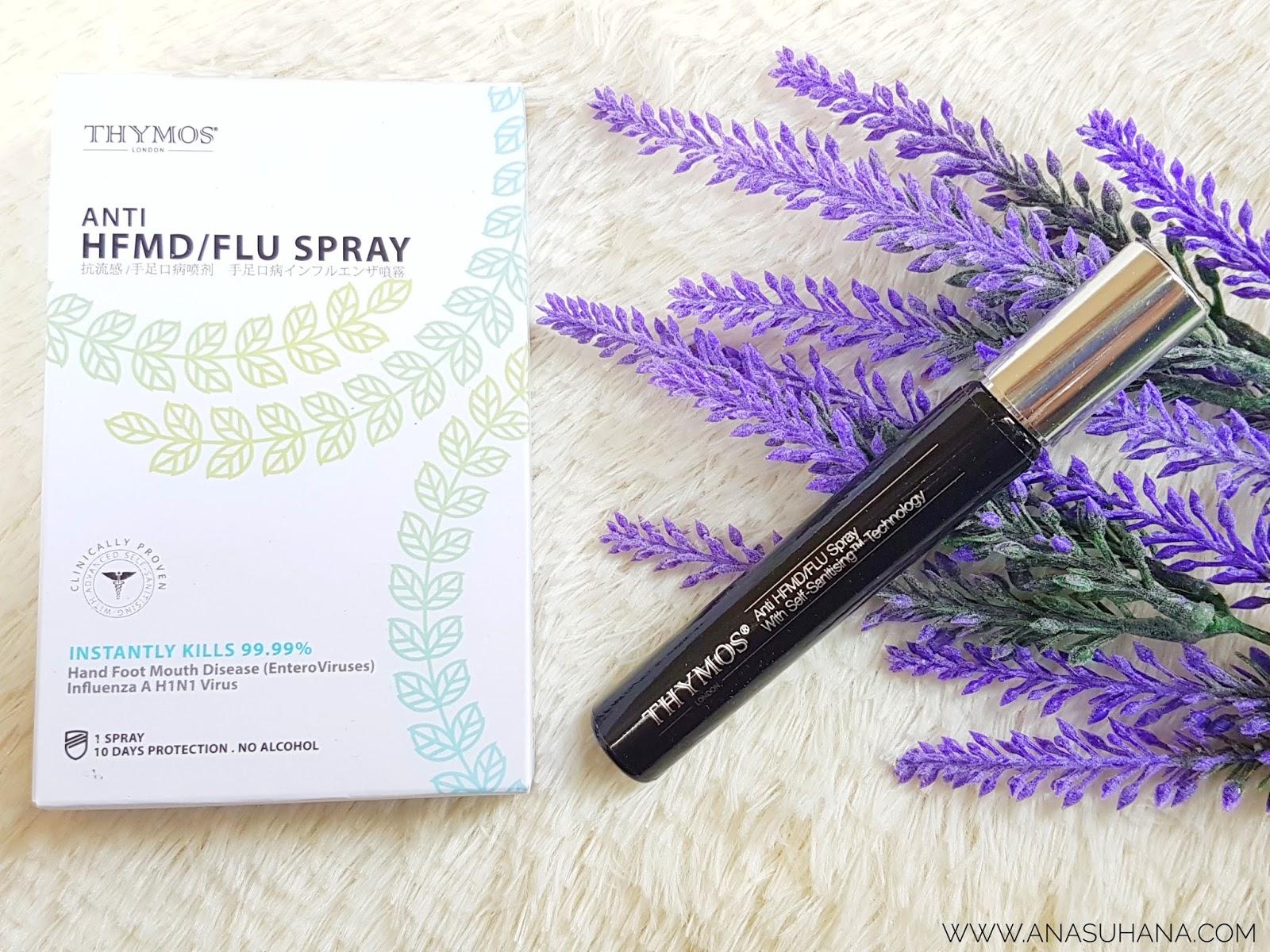 Thymos Anti HFMD / Flu Spray | Pelindung Dari Penyakit Berjangkit
