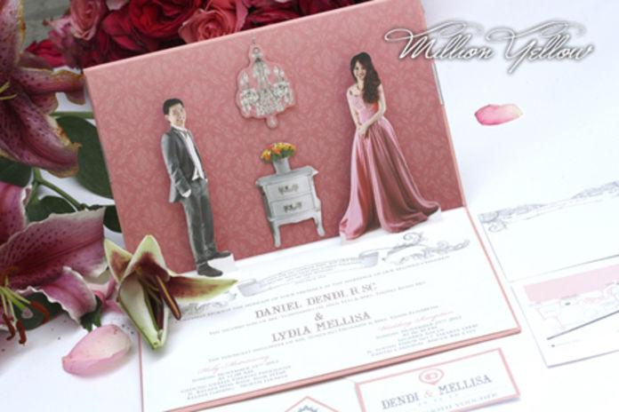 30 Contoh Undangan Pernikahan Unik dan Elegan | gebeet.com