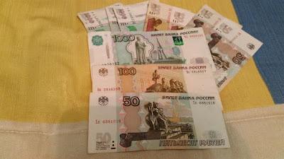 billetes rublos rusos