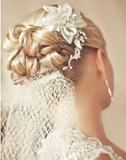 Sensational Beautiful Traditional Wedding Updo With White Flower And Veil Hairstyles For Men Maxibearus