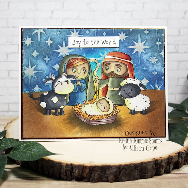 """Joy to the World by Allison Cope featuring the """"O Holy Night"""" stamp set"""