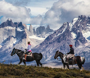 Horse ridings at Torres del Paine.