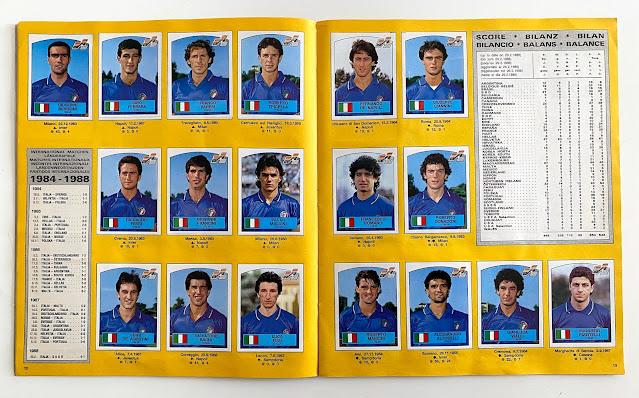 Figurine Euro 88 Italia