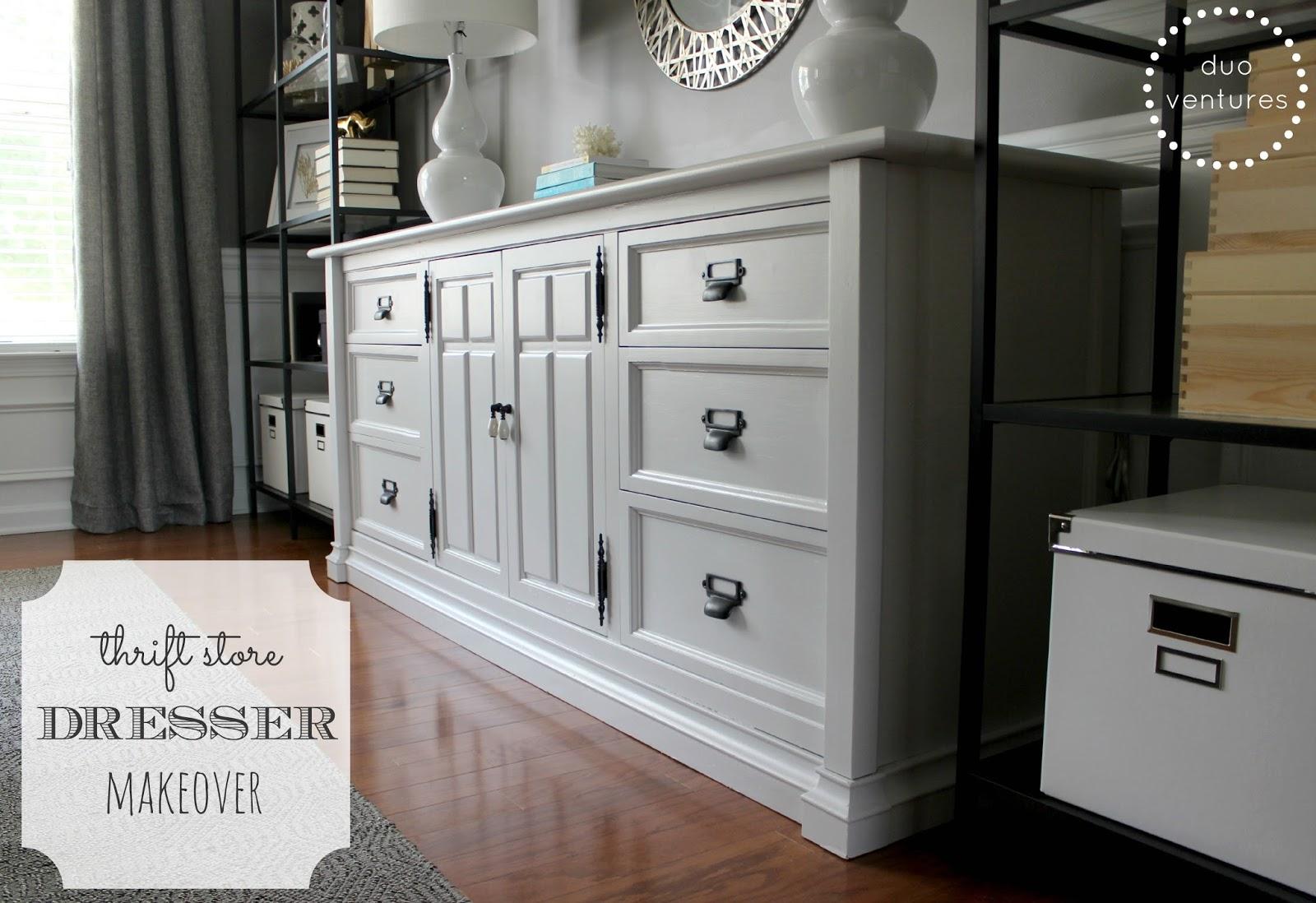 Duo Ventures Office Storage Thrift Store Dresser Makeover