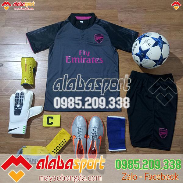 quần áo bóng đá arsenal đen 2018