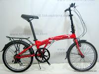 1 Sepeda Lipat Fold-X Viking Alloy Frame 20 Inci