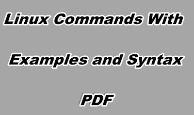 Linux Commands With Examples and Syntax PDF