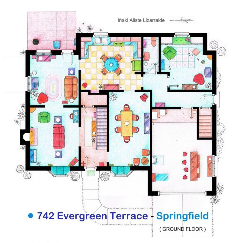 Planos de la casa de los simpson planos de casas gratis for Generatore di blueprint gratuito