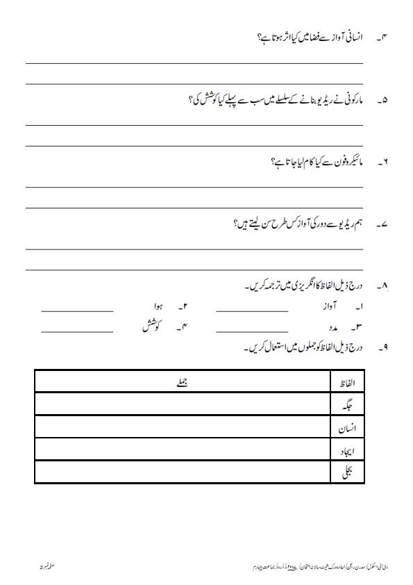 Urdu Class 4 The City School Kaechs Campus
