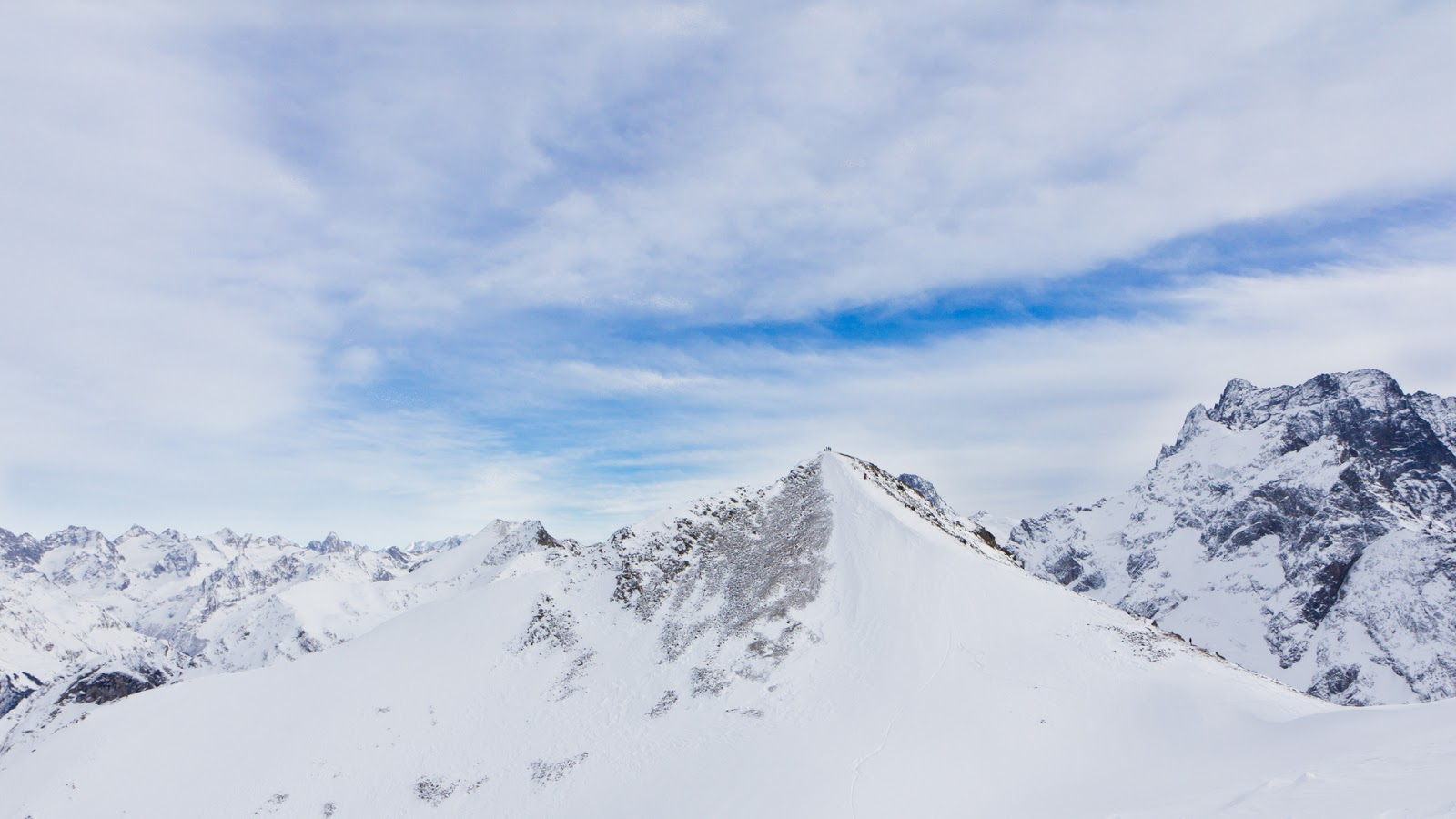 Montaña Nevada Hd: HD Wallpapers Gratis: Fondo De Pantalla Paisaje Montaña