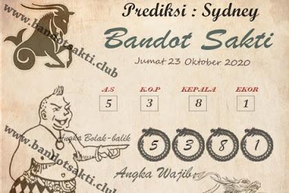 Syair Bandot Sakti Togel Sydney Jumat 23 Oktober 2020