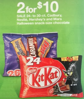 KitKat Halloween snack-size chocolate 2 for $10.00