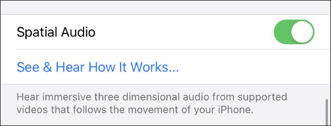 تمكين واختبار الصوت المكاني على iPhone.