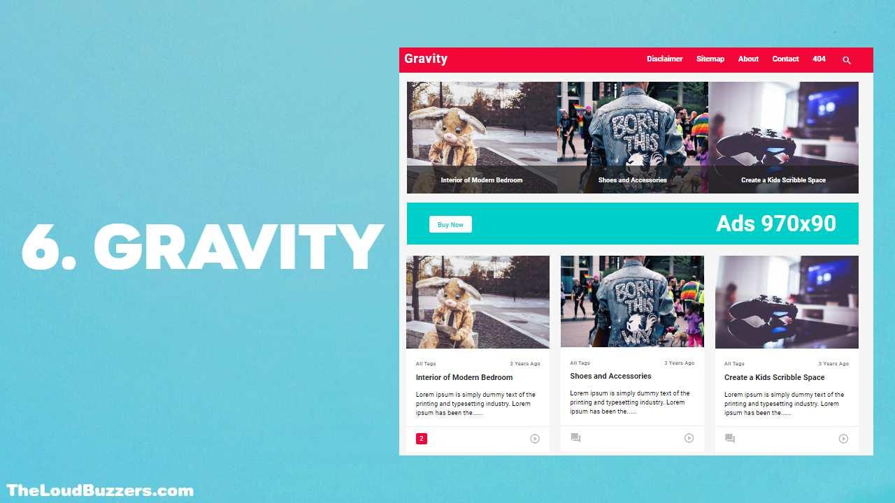 Gravity Blogger Template