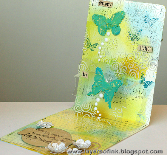 Clear Butterfly Pop-Up - Layers of ink