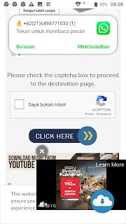 Langkah 1: Cara melewati iklan (bypass ads) Shrinkme.io
