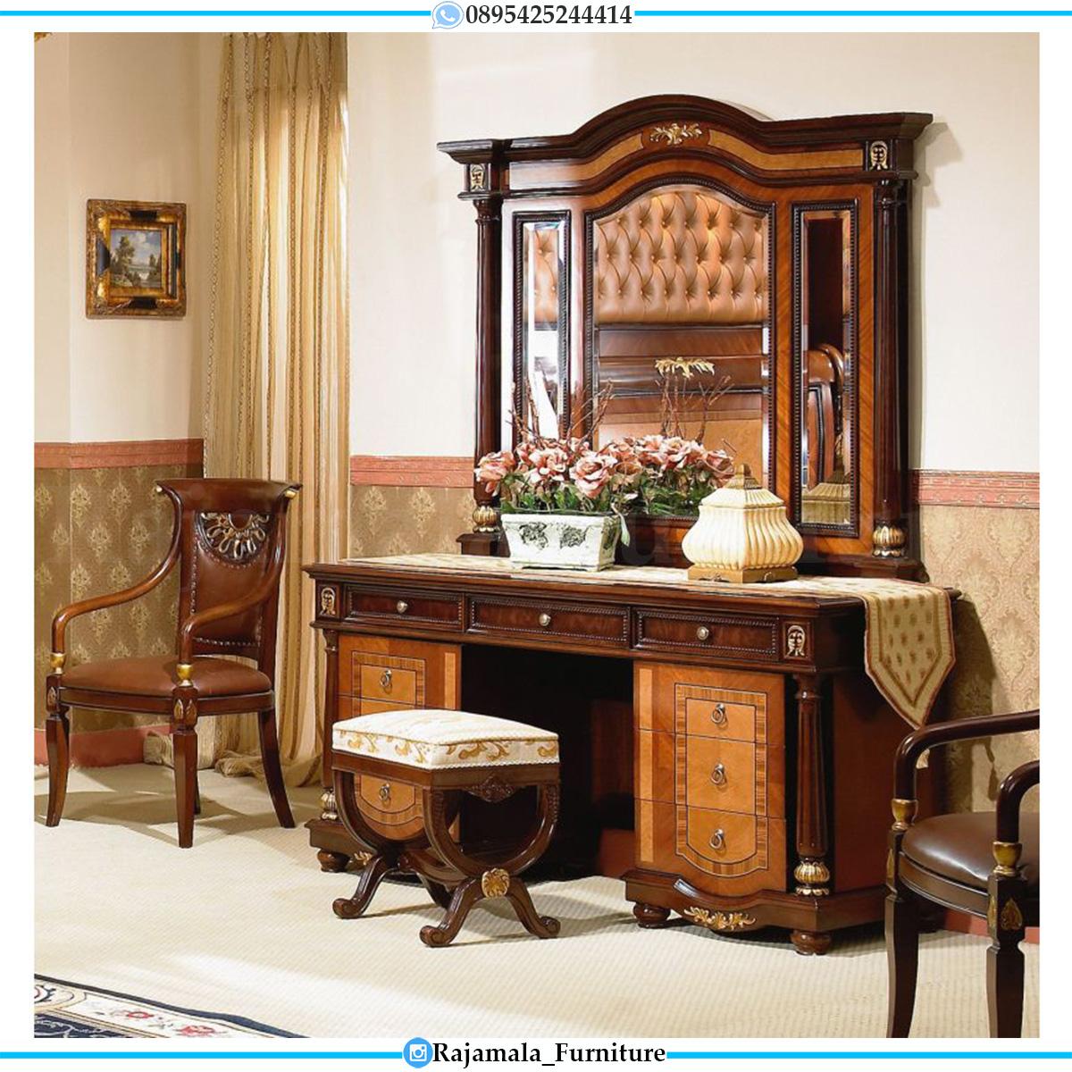 Jual Meja Rias Mewah Kayu Jati Natural Classic Luxury Design Mebel Jepara RM-0549