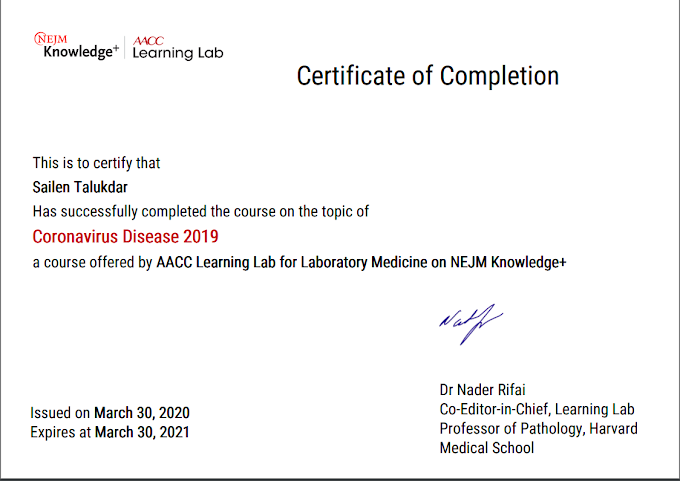 "Lockdown Achievement: Get a certificate from Harvard Medical School on  course ""Coronavirus Disease 2019"""