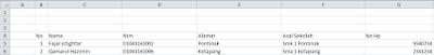 import data dari excel ke localhost dengan php