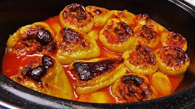 Ideja za Ručak - Pečene Punjene Paprike   Lunch Idea - Roasted Stuffed Peppers Recipe