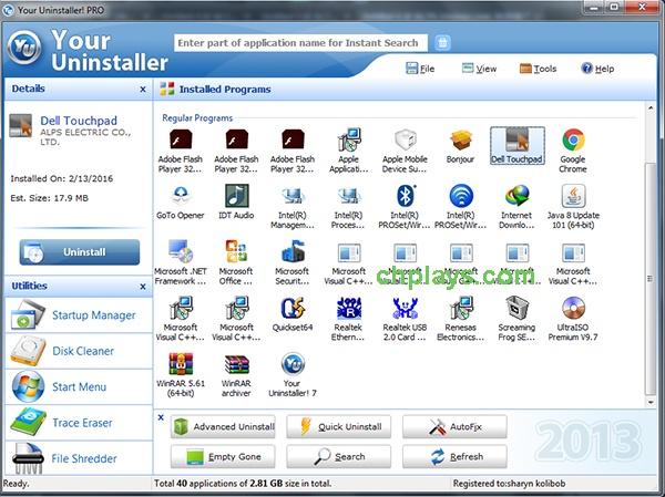 Download Your Uninstaller PRO Full - Phần mềm gỡ cài đặt ứng dụng PC a