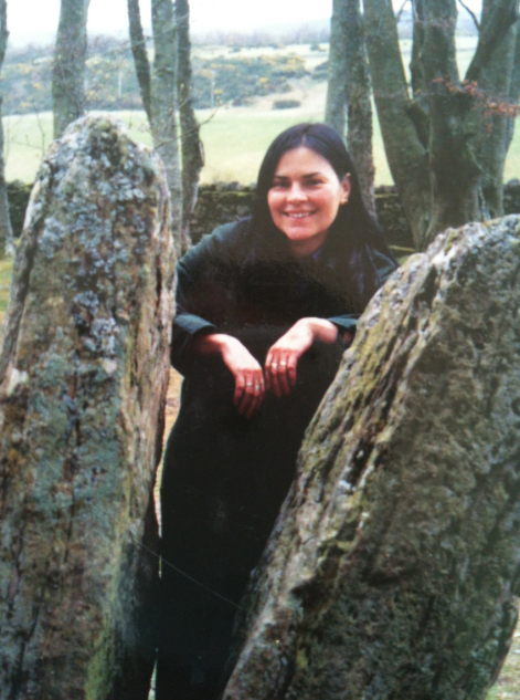 Diana Gabaldon at Clava Cairns Inverness Scotland